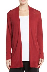 Eileen Fisher Women's Ribbed Silk And Organic Cotton Cardigan