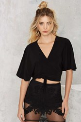 Nasty Gal Do Or Tie Wrap Top