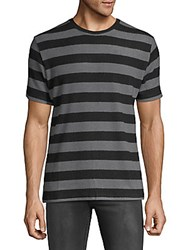 Hyden Yoo Wide Horizontal Stripes Tee Anthracite