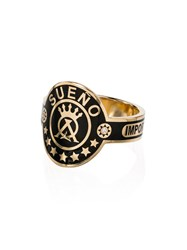 Foundrae Dream Cigar Diamond Ring Gold Black