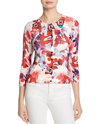 Karen Millen Floral Cardigan 100 Exclusive Red Multi