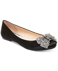 Blue By Betsey Johnson Ever Bow Ballet Flats Women's Shoes Black