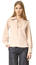 See By Chloe Tie Neck Blouse Nude