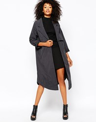 Monki Lightweight Trench Coat Black
