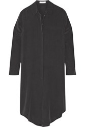 Equipment Pascal Washed Silk Tunic Charcoal