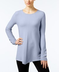 Alfani Ribbed Swing Sweater Only At Macy's Gentle Blue