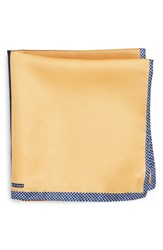 Nordstrom Men's Men's Shop Panel Silk Pocket Square Yellow