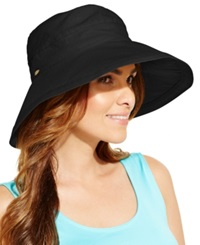 Dorfman Pacific Cotton Big Brim Sun Hat Black