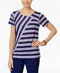 G.H. Bass And Co. Mixed Stripe Top Navy French