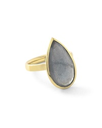 Ippolita 18K Rock Candy Single Medium Teardrop Ring In Rutilated Quartz Gold