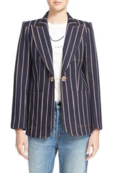 Women's Marc Jacobs Selvedge Stripe Denim Blazer