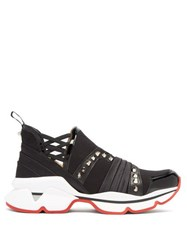 Christian Louboutin 123 Run Studded Low Top Trainers Black