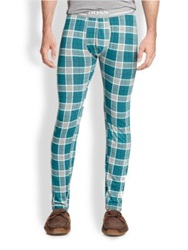Hugo Boss Boss Stretch Cotton Pajama Pants Green Multi