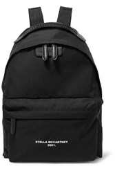 Stella Mccartney The Falabella Go Faux Leather Trimmed Printed Shell Backpack Black
