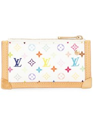 Louis Vuitton Vintage Pochette Cles Coin Case White