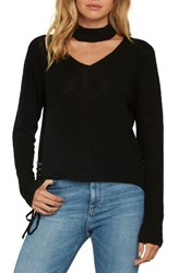 Willow And Clay Choker Sweater Black