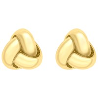Ibb 9Ct Gold 8Mm Knot Stud Earrings Gold