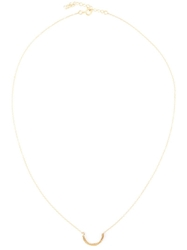 By Boe Twin Curve Necklace Metallic