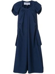 Carven Oversized Dress Polyester Viscose Blue