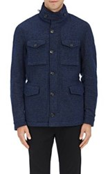 Montedoro Men's Dotted Wool Blend Jacket Navy