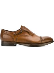 Silvano Sassetti Classic Monk Shoes Brown