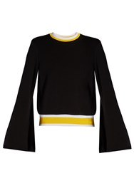 Ellery Immortal Bell Sleeved Cotton Jersey Sweatshirt Black Multi
