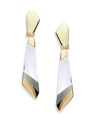 Alexis Bittar Lucite Colorblock Drop Earrings Gold