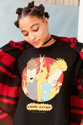 Urban Outfitters Beavis And Butt Head Tee Black