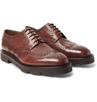 John Lobb Hayle Leather Wingtip Brogues Brown