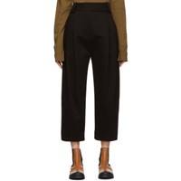 Studio Nicholson Brown Double Pleated Trousers