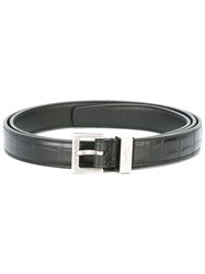 Saint Laurent Monogram Passant Buckle Belt Black