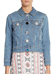 Sam Edelman Shrunken Denim Jacket Blue