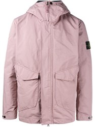 Stone Island Down Lined Parka Pink Purple