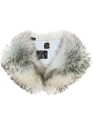 Mr And Mrs Italy Raccoon Fur Collar Grey