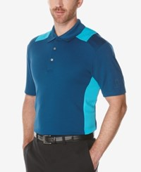 Pga Tour Men's Colorblocked Airflux Polo Shirt Poseidon