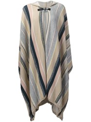 Maiyet Hooded Poncho Nude Neutrals