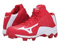 Mizuno 9 Spike Advanced Franchise 8 Mid Red White Men's Cleated Shoes