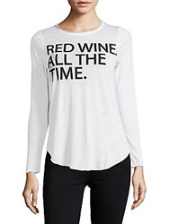 Chaser Red Wine Long Sleeve Tee White