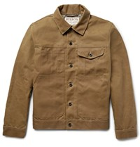 Filson Short Lined Cruiser Water Repellent Cotton Tin Cloth Jacket Tan