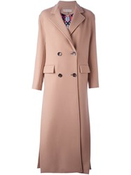 Emilio Pucci Double Breasted Coat Nude And Neutrals
