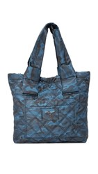 Marc Jacobs Camo Nylon Knot Small Tote Navy Multi