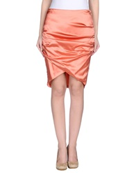 Betty Blue Knee Length Skirts Salmon Pink