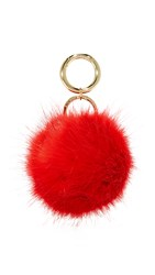 Iphoria Faux Fur Bag Charm Sirene Red