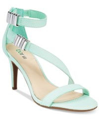 Bar Iii Hillary Ankle Strap Asymmetrical Dress Sandals Only At Macy's Women's Shoes Mint