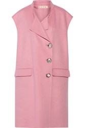 Marni Wool Cashmere And Angora Blend Gilet Pink