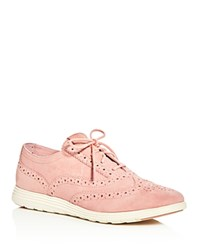 Cole Haan Grand Tour Brogue Oxford Sneakers Pink
