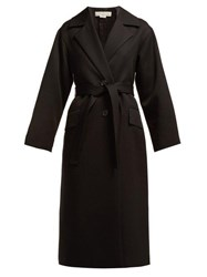 Golden Goose Deluxe Brand Single Breasted Wool Trench Coat Black