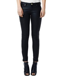 Buffalo David Bitton Coated Skinny Leg Jeans Black