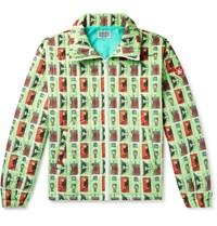 Cav Empt Printed Quilted Shell Jacket Green