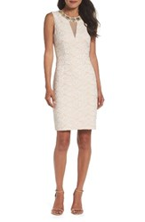 Eliza J Women's Embellished Lace Sheath Dress